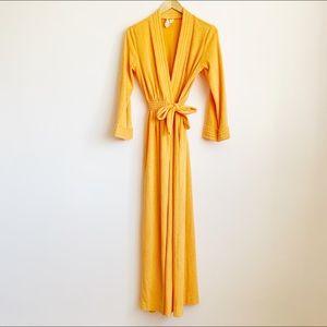 vintage 1970s orange sherbet terrycloth robe